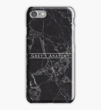 GREY'S ANATOMY - BLACK MARBLE iPhone Case/Skin