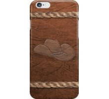 Western Theme - Cowboy Hat, Leather & Rope iPhone Case/Skin