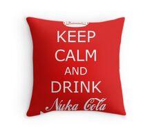 Drink Nuka Cola Throw Pillow