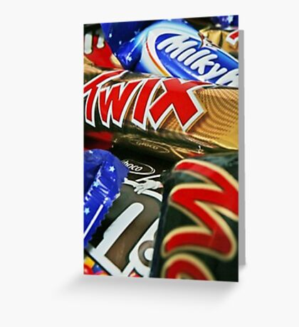 Candy Bars Print- Mars, Twix, M&M Greeting Card