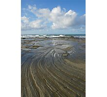 Sandstone platform. Caloundra Headlands. Photographic Print
