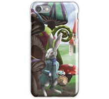 White Rabbit in the Wonderland Toadstool Forest iPhone Case/Skin