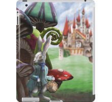 White Rabbit in the Wonderland Toadstool Forest iPad Case/Skin