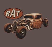 RAT - Side Pipes One Piece - Short Sleeve
