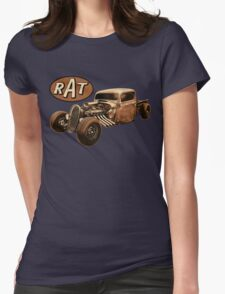 RAT - Side Pipes Womens Fitted T-Shirt