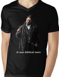 Biblical Alfie - For Dark Colours. Mens V-Neck T-Shirt