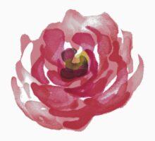 Watercolor Pink Peony Baby Tee