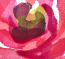 Watercolor Pink Peony Sticker