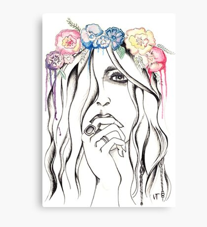 Flower crown is better than no crown Canvas Print