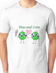 Peas and Love (Peace and Love) Unisex T-Shirt