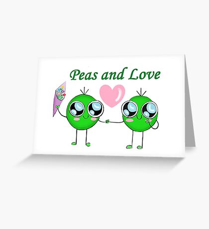 Peas and Love (Peace and Love) Greeting Card