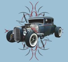 Pinstripe Hot Rod light Kids Tee