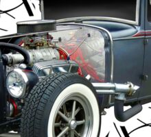 Pinstripe Hot Rod light Sticker