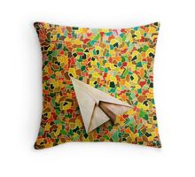 Paper Airplane 73 Throw Pillow