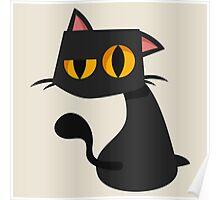 Sharp Black Cat Poster