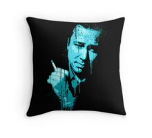 Bill Hicks (blue) Throw Pillow