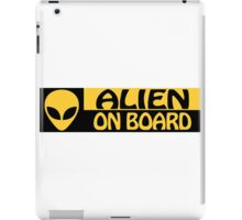 ALIEN ON BOARD iPad Case/Skin