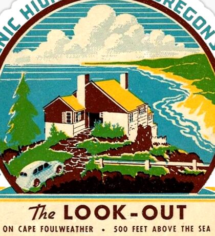 The Look Out on Oregon's Coast Vintage Travel Decal Sticker