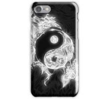 Zen Doodle Yin Yang Black White Glow iPhone Case/Skin