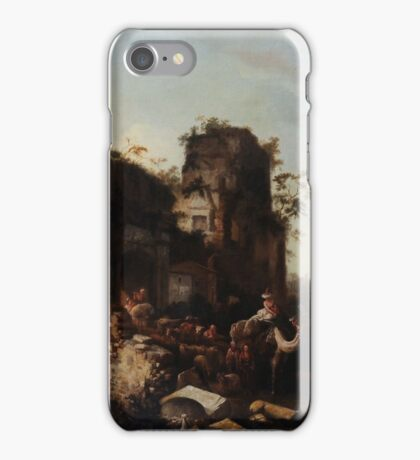 Circle of Jan Griffier the Elder  The Return of the Caravan from a Grand Tour, iPhone Case/Skin