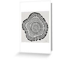 Tree Rings – Black on White Greeting Card