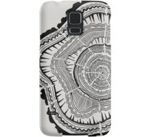 Tree Rings – Black on White Samsung Galaxy Case/Skin