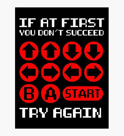 Retro Gamer Mantra Photographic Print