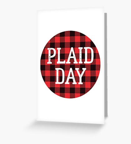 Plaid is the New Black Greeting Card
