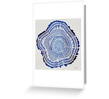 Navy Tree Rings Greeting Card