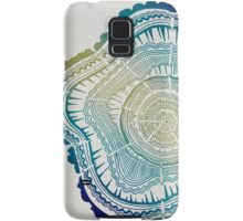 Tree Rings – Watercolor Ombre Samsung Galaxy Case/Skin