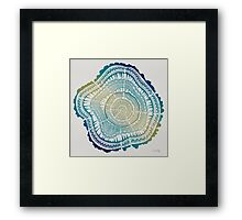 Tree Rings – Watercolor Ombre Framed Print