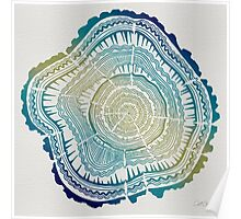 Tree Rings – Watercolor Ombre Poster