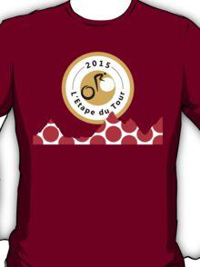 Red Polka Dot 2015 L'Etape du Tour Mountain Profile v2 T-Shirt