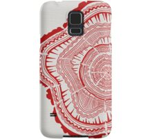 Red Tree Rings Samsung Galaxy Case/Skin