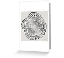 Silver Tree Rings Greeting Card