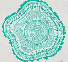 Turquoise Tree Rings by Cat Coquillette