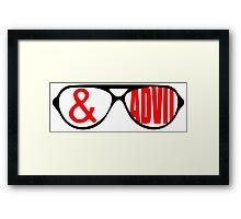 Sunglasses & Advil Framed Print