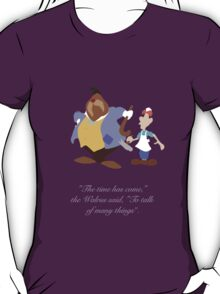 Alice in Wonderland inspired design (The Walrus & the Carpenter). T-Shirt