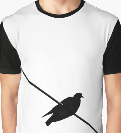 Bird on a Wire Graphic T-Shirt