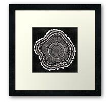 Woodblock Tree Rings Framed Print