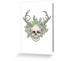 Skull with horns Greeting Card