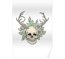 Skull with horns Poster