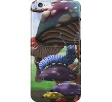 Caterpillar in the Wonderland Toadstool Forest iPhone Case/Skin