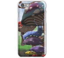 Caterpillar in the Wonderland Toadstool Forest iPhone Case/Skin
