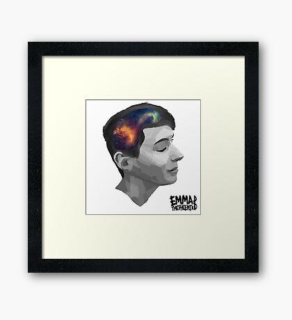 Dan- universal minds (white) Framed Print