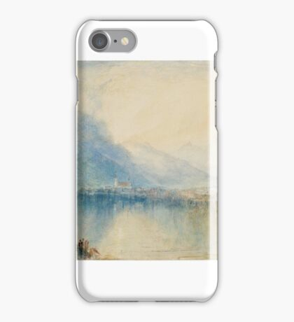 Joseph Mallord William Turner    Arth, on the Lake of Zug. Early Morning iPhone Case/Skin