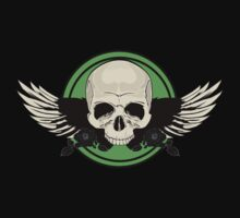 Wing Skull - GREEN T-Shirt