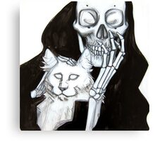 Death and Cat Canvas Print