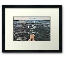 Blessed are the Curious Framed Print