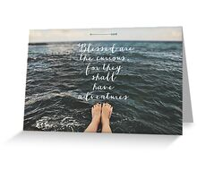 Blessed are the Curious Greeting Card